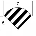 7 mm profil B hurtigsveis-skrudyse