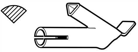 5,7 mm profil A hurtigsveis-skrudyse med heftetupp 113.670