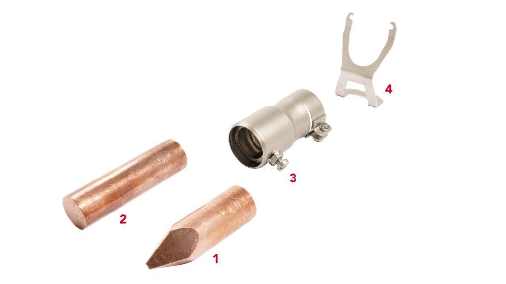 Lodding av kobber, sink og kromstål trygt med loddebolt for TRIAC AT