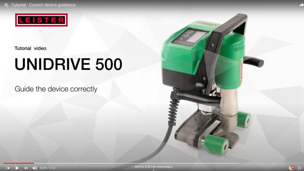Instruksjonsvideoer for Unidrive 500